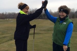 Golfing in the cold can be fun
